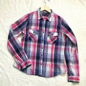🍭2/10$ - Bluenotes | Plaid Button Down Shirt